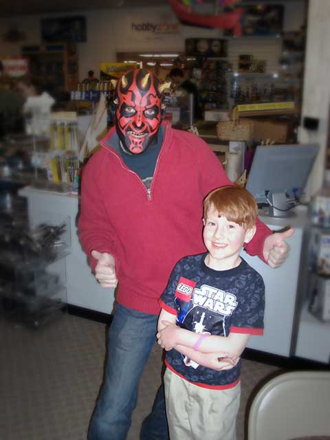 Darth Maul and Ian