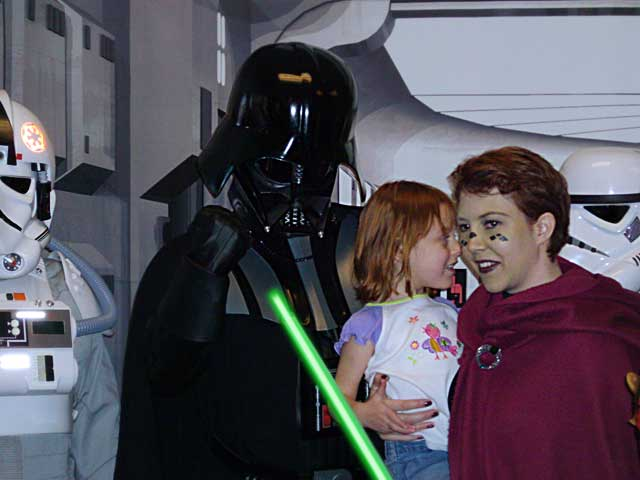 Brita and Anna with Darth Vader